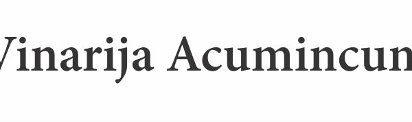 Vinarija Acumincum